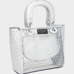 Betsey Johnson NWT Silver Bag